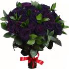 Букет из 19 чёрных роз